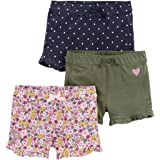 Simple Joys by Carter's Girls' 3-Pack Knit Shorts