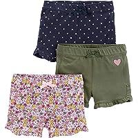Simple Joys by Carter's 3-Pack Knit Shorts Bebé-Niñas, Pack de 3