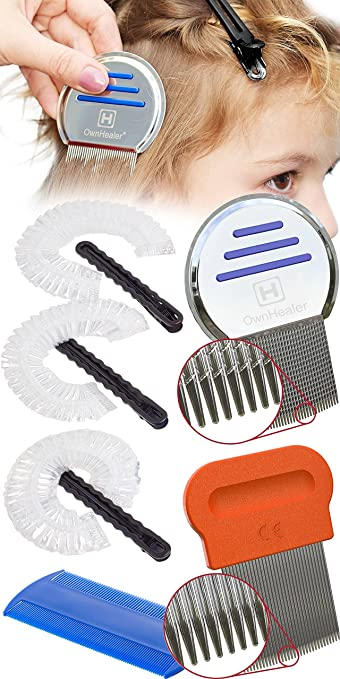 Amazon Com 9 Piece Lice Comb Set Easily Removes Head Lice Along