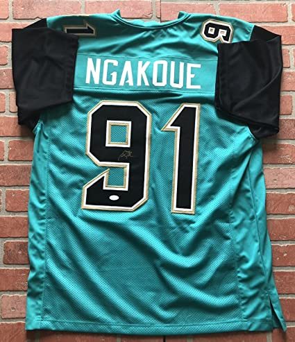 eb5a7333576 Image Unavailable. Image not available for. Color: Yannick Ngakoue  autographed signed jersey NFL Jacksonville Jaguars ...