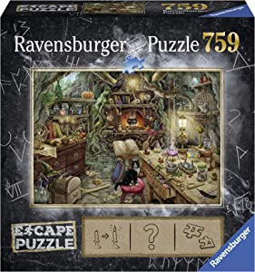 Ravensburger Escape Puzzle The Witches Kitchen 759 Piece Jigsaw Puzzle for Kids and Adults Ages 12 and Up - An Escape Room Experience in Puzzle Form Multi ,27