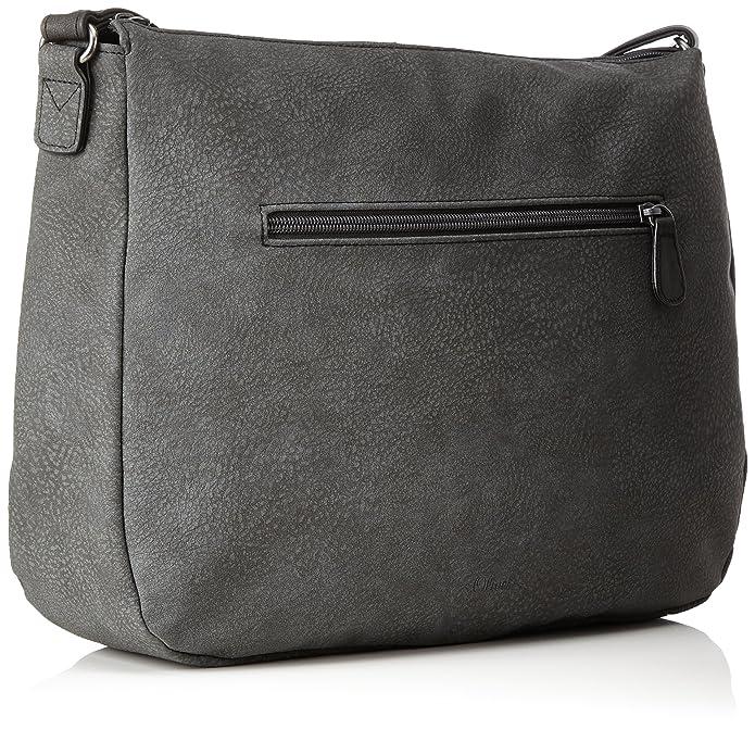 39.711.94.7989, Womens Shoulder Bag, Grau (Dark Anthra), 9x27.5x31 cm (B x H T) s.Oliver