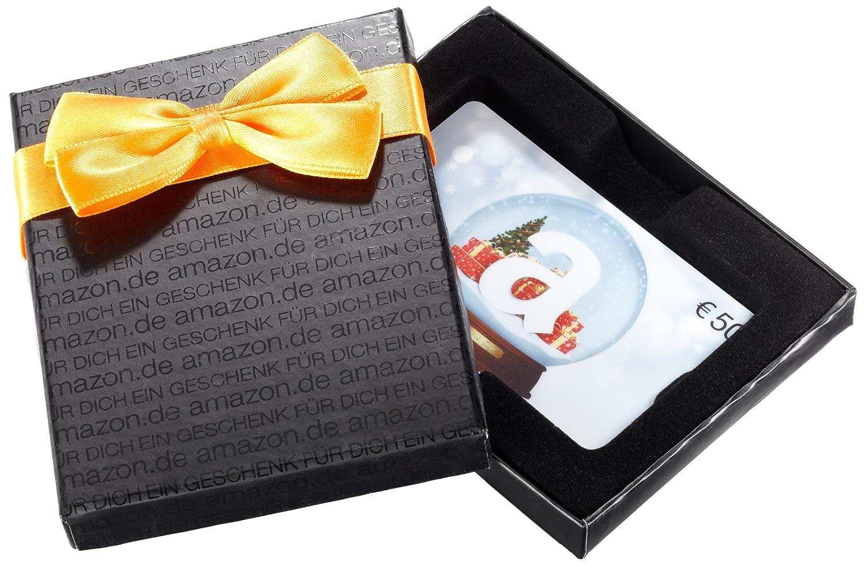 Amazon.de Geschenkkarte in Geschenkbox (Schneekugel - schwarz) - mit kostenloser Lieferung per Post Amazon EU S.à.r.l.