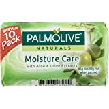 Palmolive Naturals Bar Soap Moisture Care Aloe and Olive Extracts, 10 x 90g