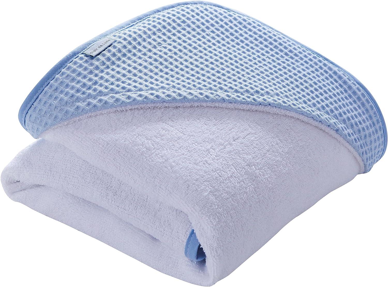 White Luxury Waffle Hooded Baby Towel