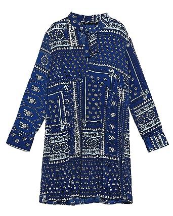 patchwork print dress zara