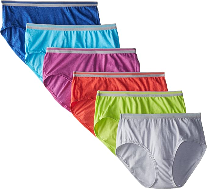 New Fruit of the Loom Women/'s Plus Size Comfort Covered Brief Underwear 6 Pack