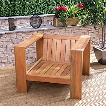 Superb Linea Low Wooden Garden Chair