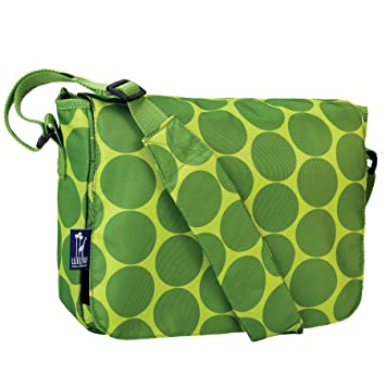 Amazon.com: Wildkin Big Dots Kickstart Messenger Bag, Green: Toys ...