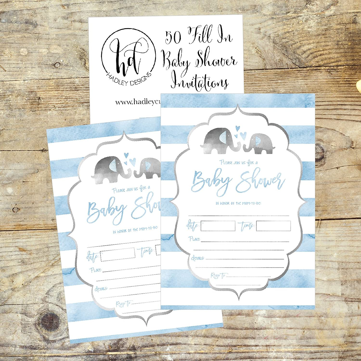 Amazon 50 Fill in Baby Shower Invitations Baby Shower