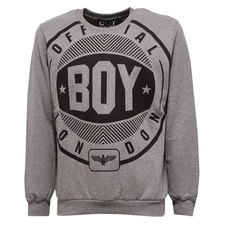 Boy London 9395V Felpa uomo Grey Sweatshirt Cotton Man: Amazon.es: Ropa y accesorios