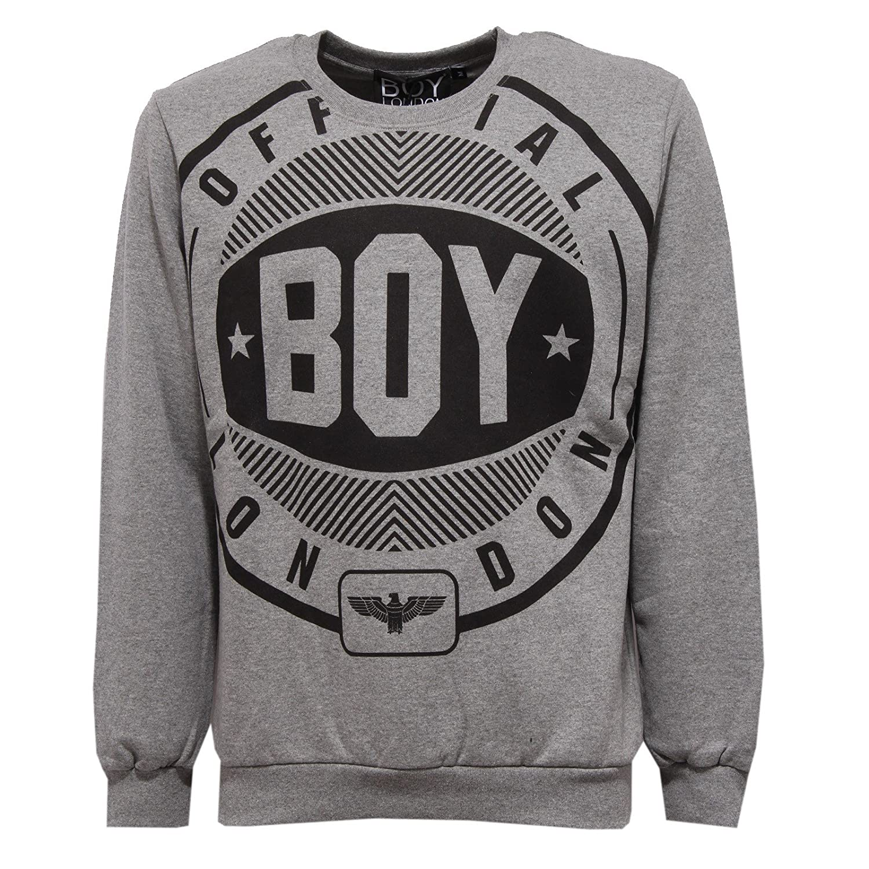 Boy London 9395V Felpa  Herren Grau Sweatshirt Cotton Man