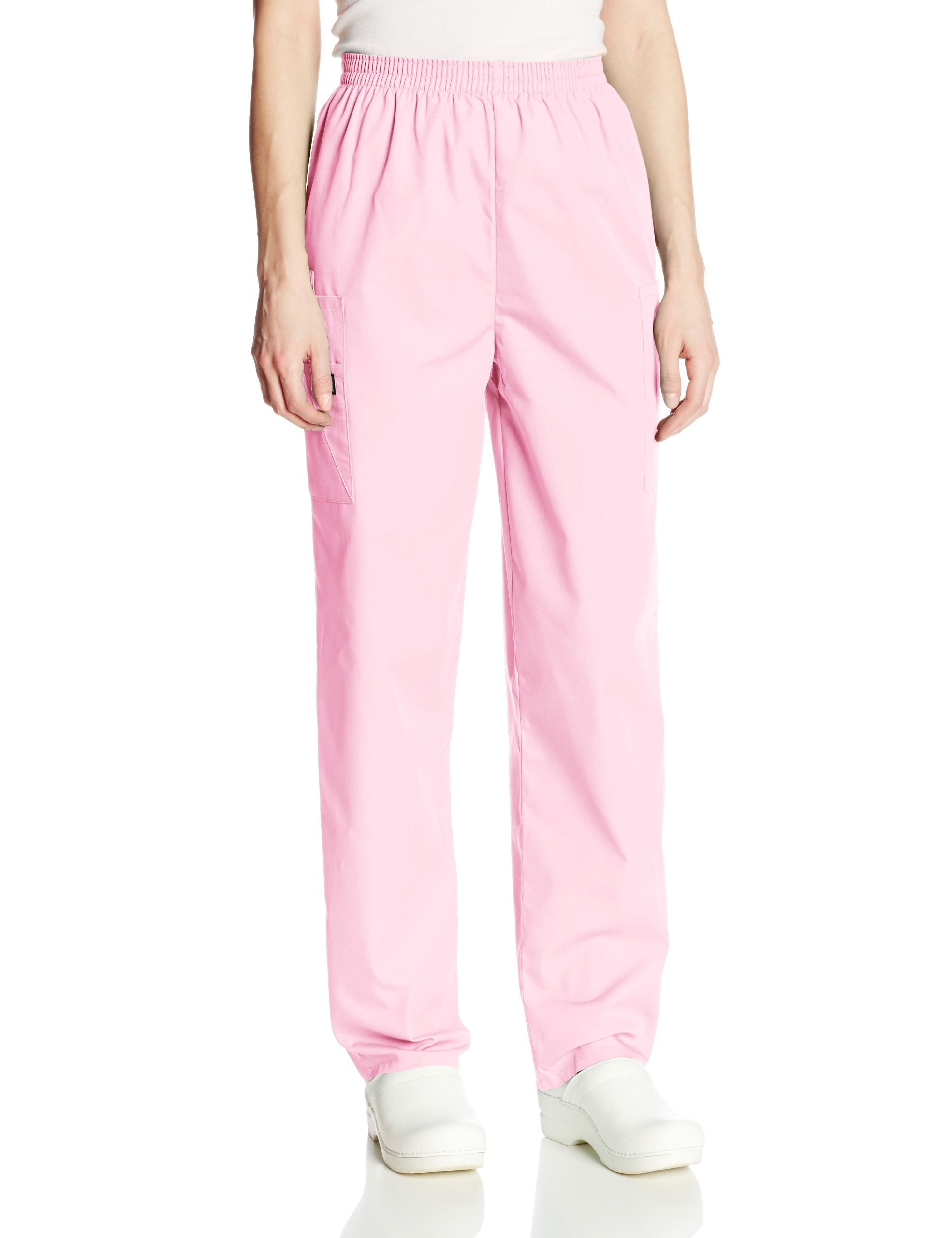 Cherokee Women's Workwear Scrubs Pull-On Cargo Pant, Pink Blush, X-Small-Tall