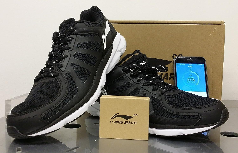 Li-Ning Xiaomi Smart Shoes Xiaomi-Running Shoes black, Zapatillas de Running en tejido con sensor y Podómetro contacalorie Xiaomi vinculado a la applicación mifit %2F color nero-modelo Speed camino: Amazon.es: Deportes y aire