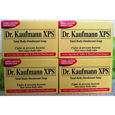 4 Bars Dr. Kaufmann XPS Total Body-deodorant Soap Fights & Prevents Bacteria 80g