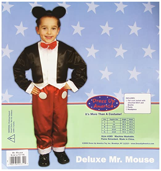 Mouse Costume For Kids By Dress Up America Charming Mr