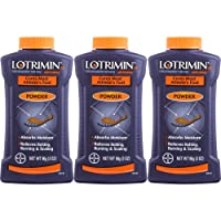 Lotrimin Antifungal Powder for Athlete's Foot, 3-Ounce Bottles (Pack of 3)