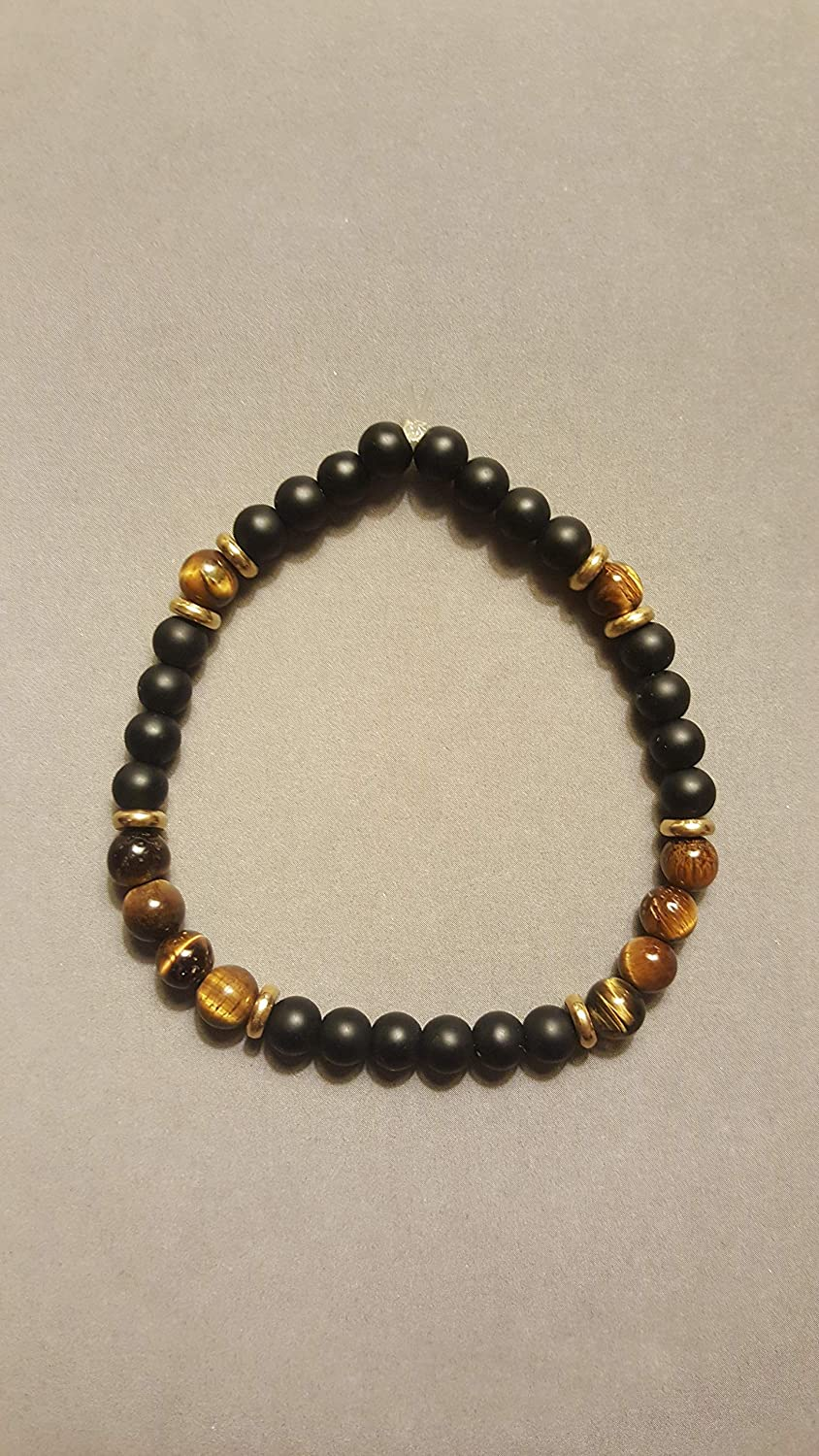 Tiger's Eye beaded Chakra stretch Bracelet
