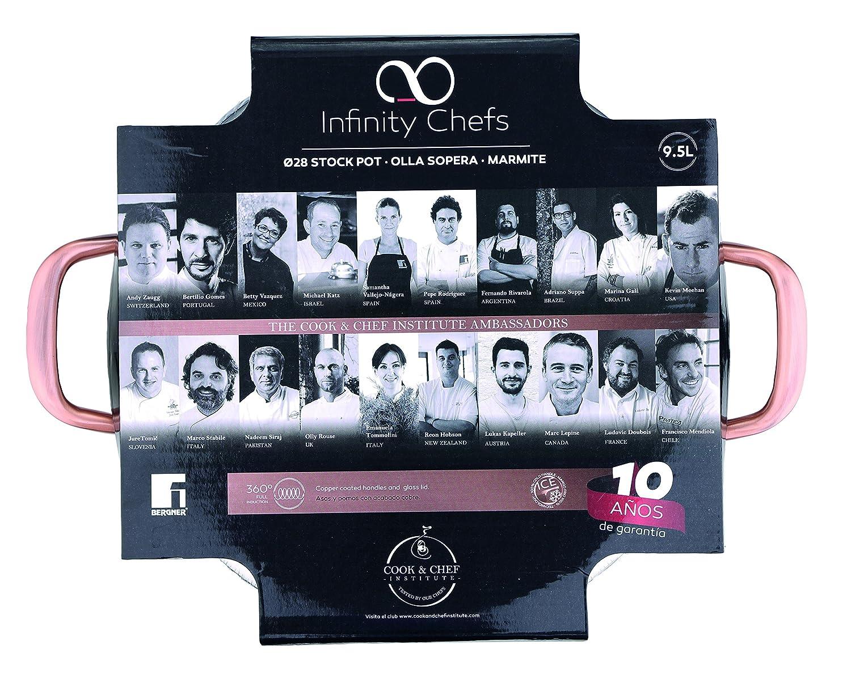 Bergner Q1950 Infinity Chef - Paellera de inducción, 32 cm, color plateado