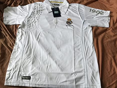 Real Madrid C.F. Oficial REAL MADRID blanco Zip Up Polo camiseta ...
