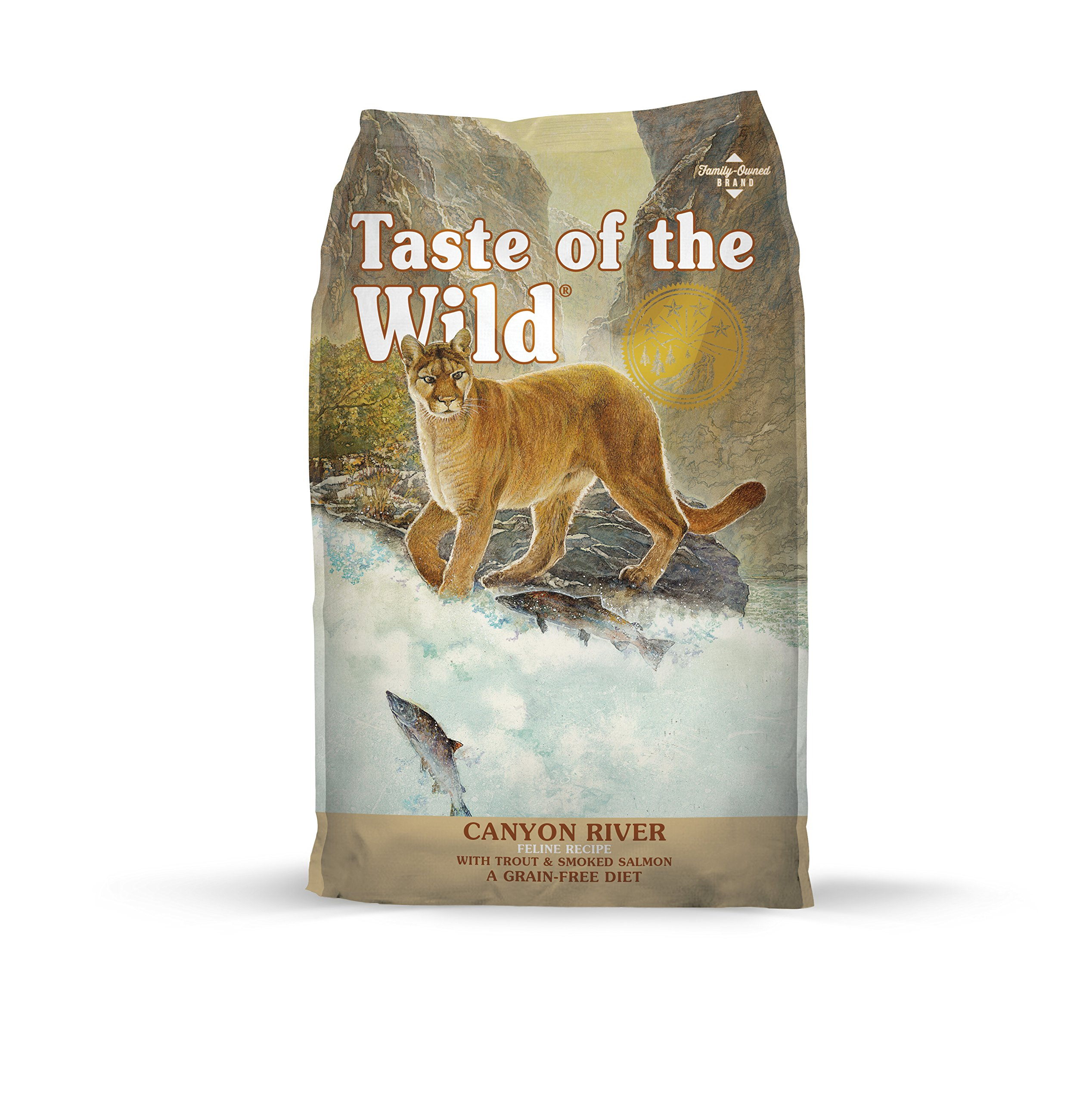 Taste of the Wild Grain Free High Protein Real Meat Recipe Canyon River Premium Dry Cat Food by Taste of the Wild