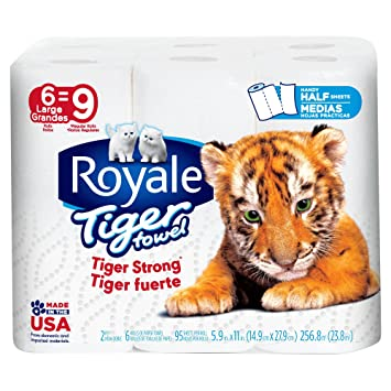 Royale Tiger Paper Towels Choose A Size 2 Ply Large Rolls 6