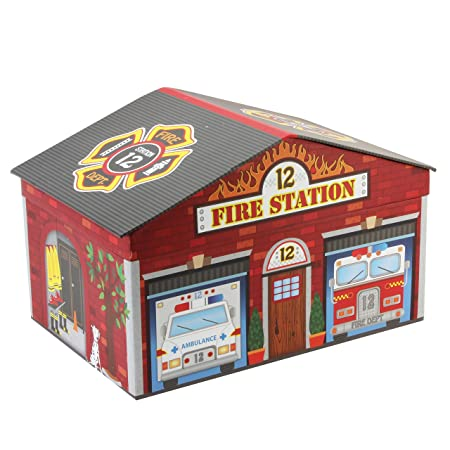 Tri Coastal Design Fire Station House Shaped Toy / Storage Box   38cm X 25cm
