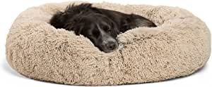 "Best Friends by Sheri DNT-SHG-TAU-3030-VP Luxury Shag Faux Fur Donut Cuddler (Multiple Sizes) – Donut Cat and Dog Bed, 30"" x 30"", Taupe"