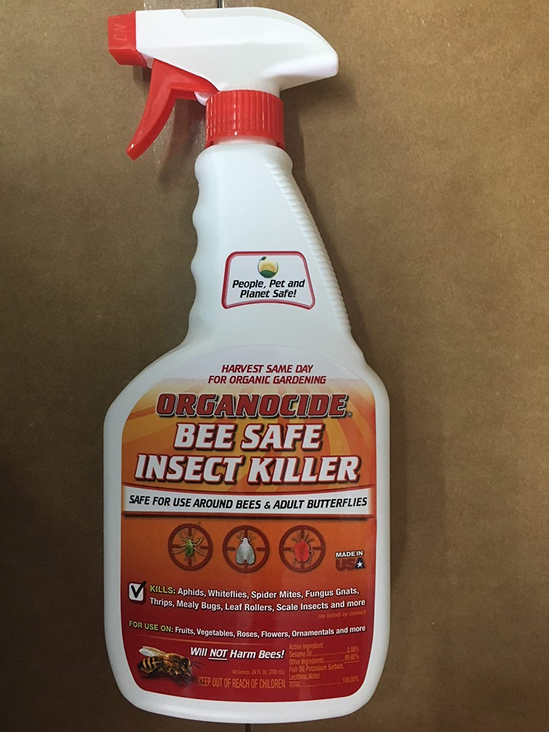 Amazon.com : Organocide Bee Safe Insect Killer 24 oz. Ready to Use ...