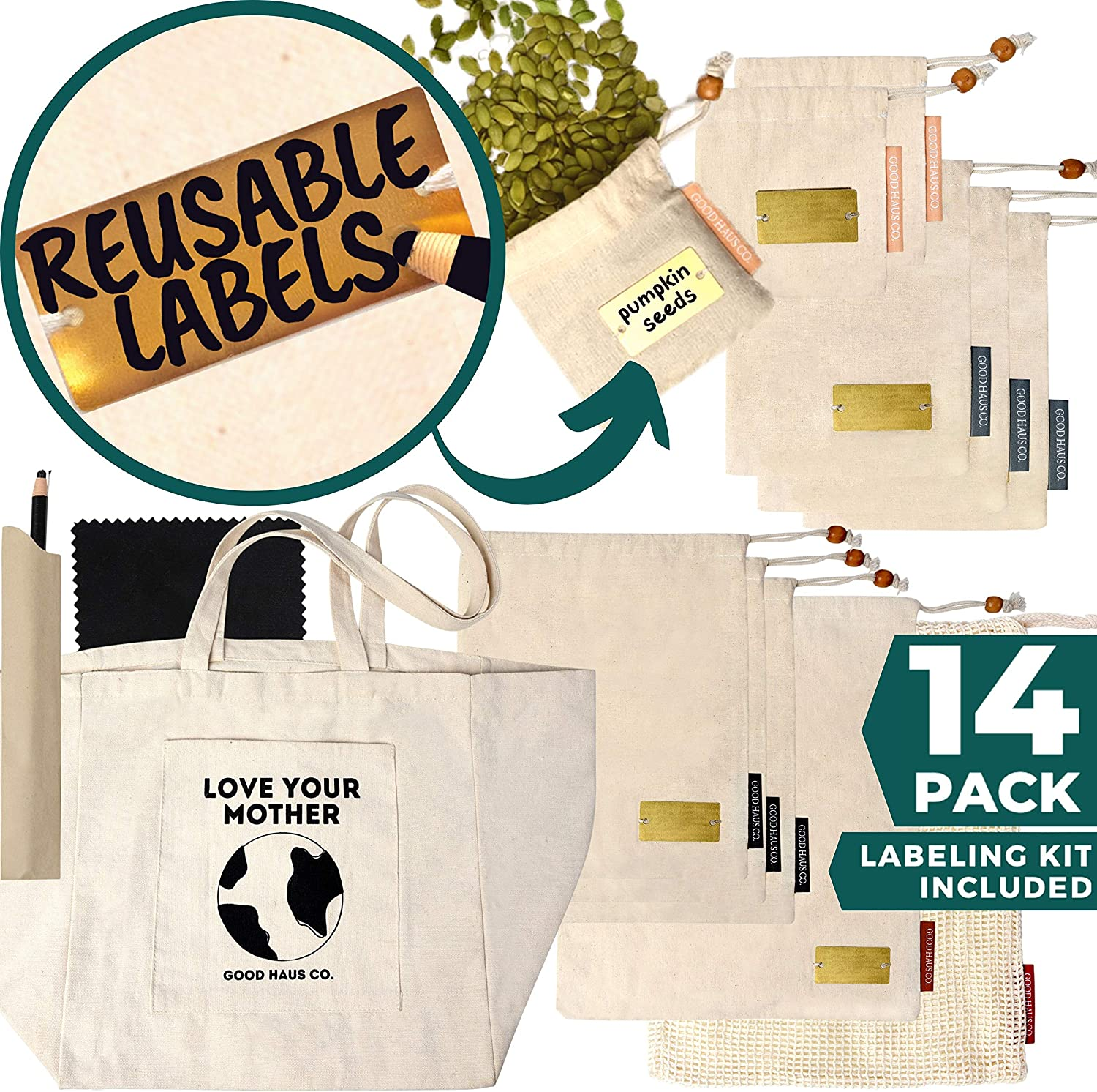 Eco friendly kitchen products: reusable bags