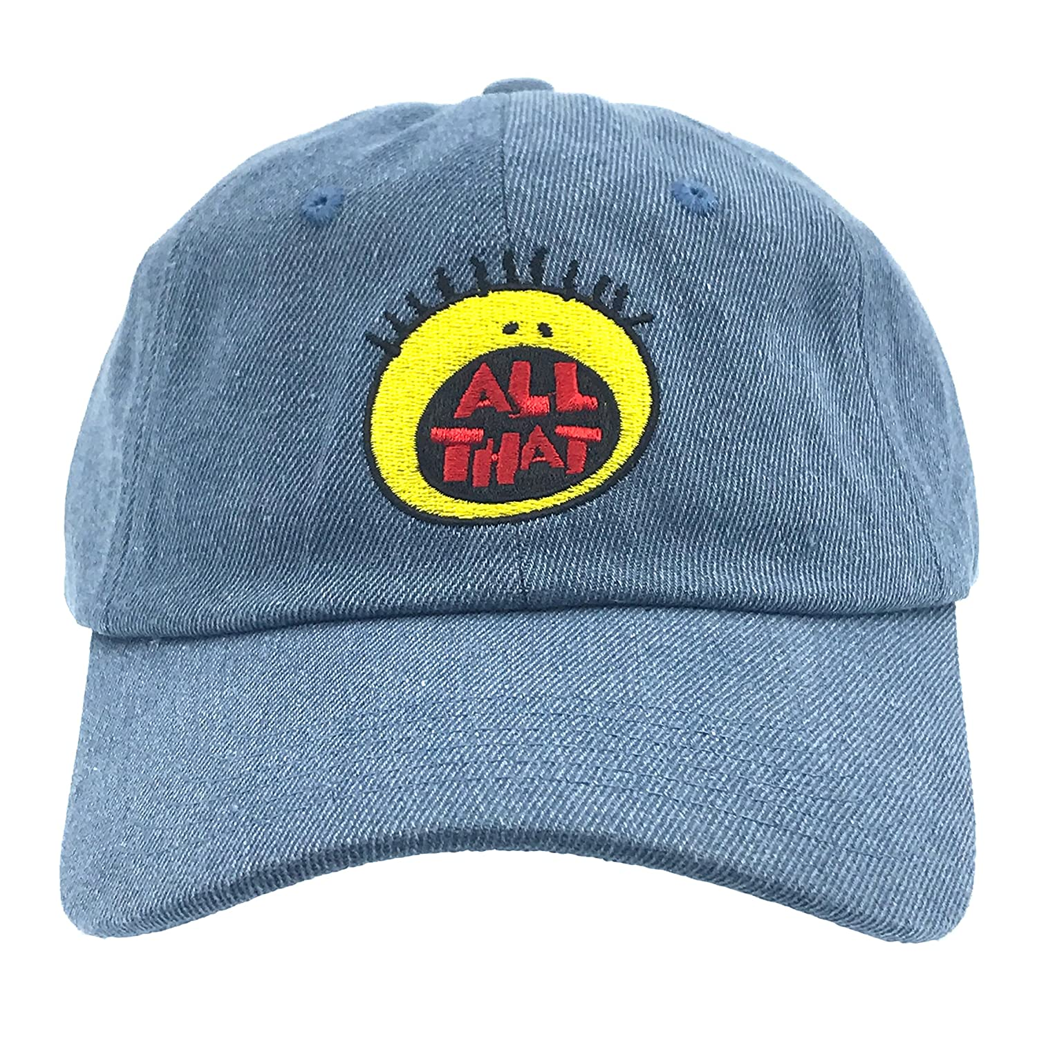 da32677e155af2 All That Hat Dad Cap 90s Baseball Adjustable Snapback Denim at Amazon Men's  Clothing store: