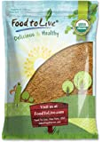 Food To Live Certified Organic Whole Golden Flaxseed (Raw, Non-GMO, Kosher, Bulk Flax Seed) (8 Pounds)