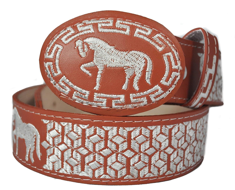 Western Belts Mens Machine Embroidery Belt Style 7