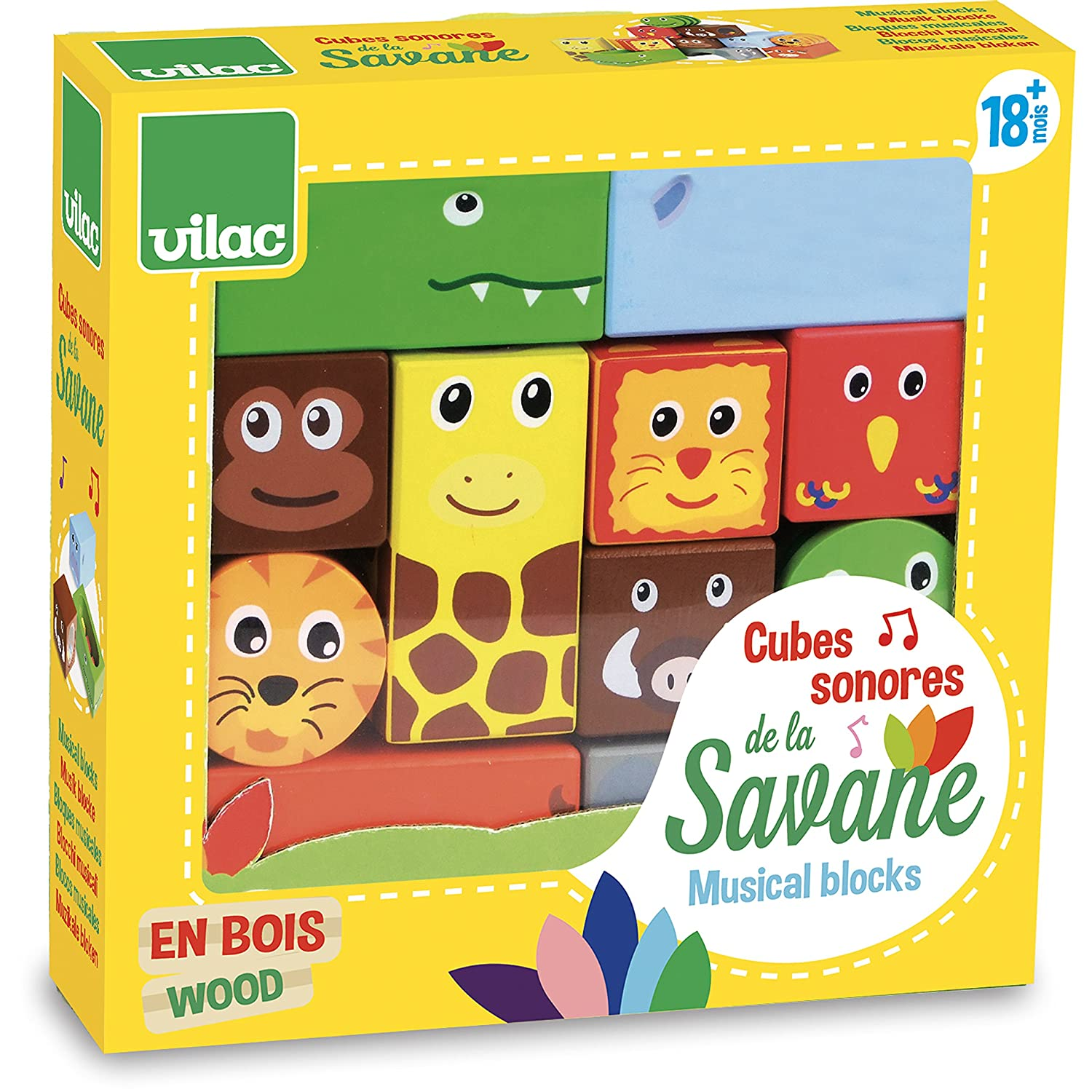 Vilac Vilac2101 Savanna Musical Blocks