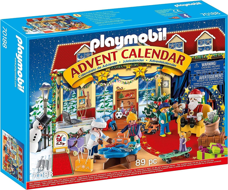 PLAYMOBIL-70188 Calendario de Adviento Navidad en el Negocio de Juguetes, a Partir de 4 años, Multicolor, Talla única (70188)