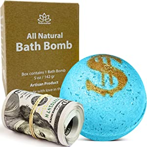 Bath Bomb with Real Money Inside Cash