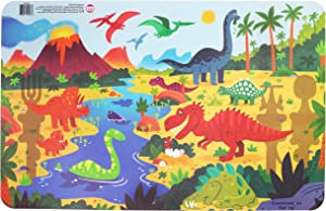 Constructive Eating Dinosaur Placemat for Toddlers, Infants, Babies and Kids - Placemat Toy is Made in The USA Using Materials Tested for Safety