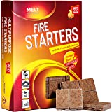 Fire Starters BIG PACK 160 Squares Charcoal Starter for Grills, Campfire, Fireplace, Firepits, Smokers.No flare ups & flavor.
