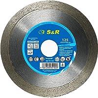 S&R Diamant slijpschijf, snijschijf 125mm voor het zuiver snijden van harde keramische tegels, geglazuurde tegels…