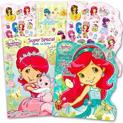Amazoncom Strawberry Shortcake Coloring Book Super Set 2 Jumbo