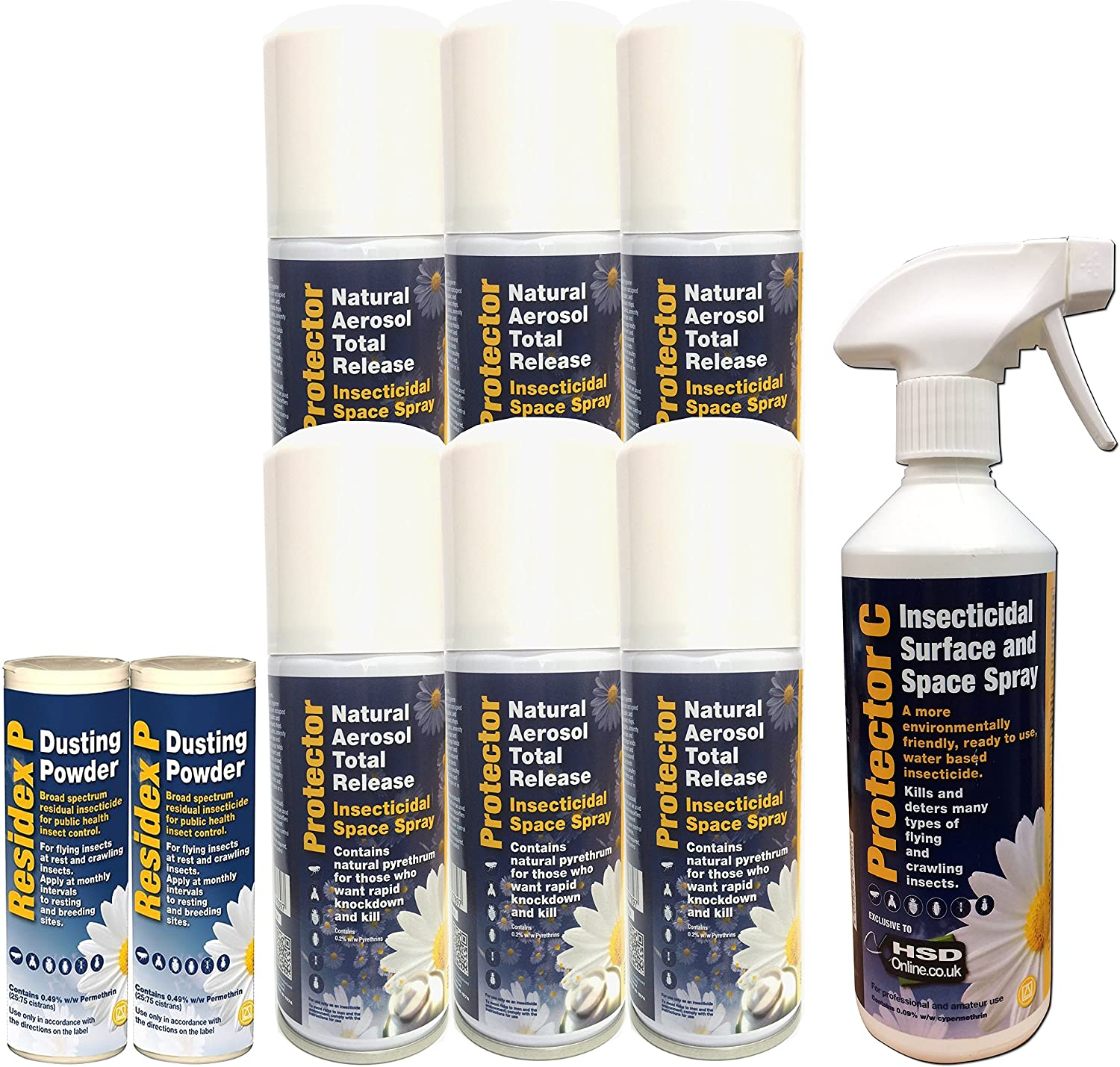 Sales Direct Online - Cluster Fly Series Large Cluster Flies Killer Foggers, Spray and Double Powder Kit for the Home