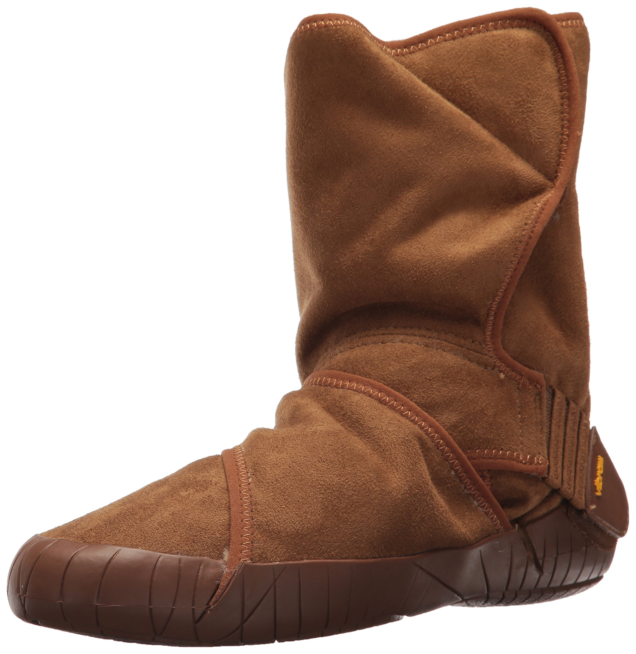 Vibram Furoshiki Mid Boot Classic Shearling Sneaker, Camel Brown, EU:42-43/UK Man:8-9/UK Woman:9-10.5/cm:26.5-27.5/US Man:9-10/US Woman:10-11.5 by Vibram
