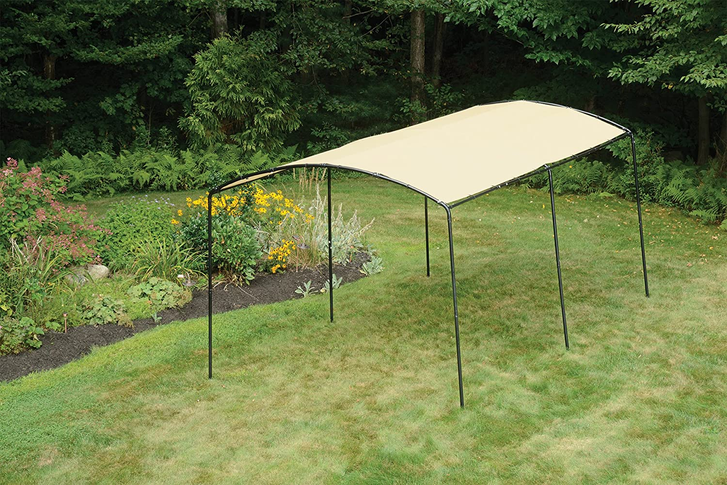 Amazon.com  ShelterLogic Monarc Canopy Sandstone 10 x 18 ft.  Garden u0026 Outdoor & Amazon.com : ShelterLogic Monarc Canopy Sandstone 10 x 18 ft ...