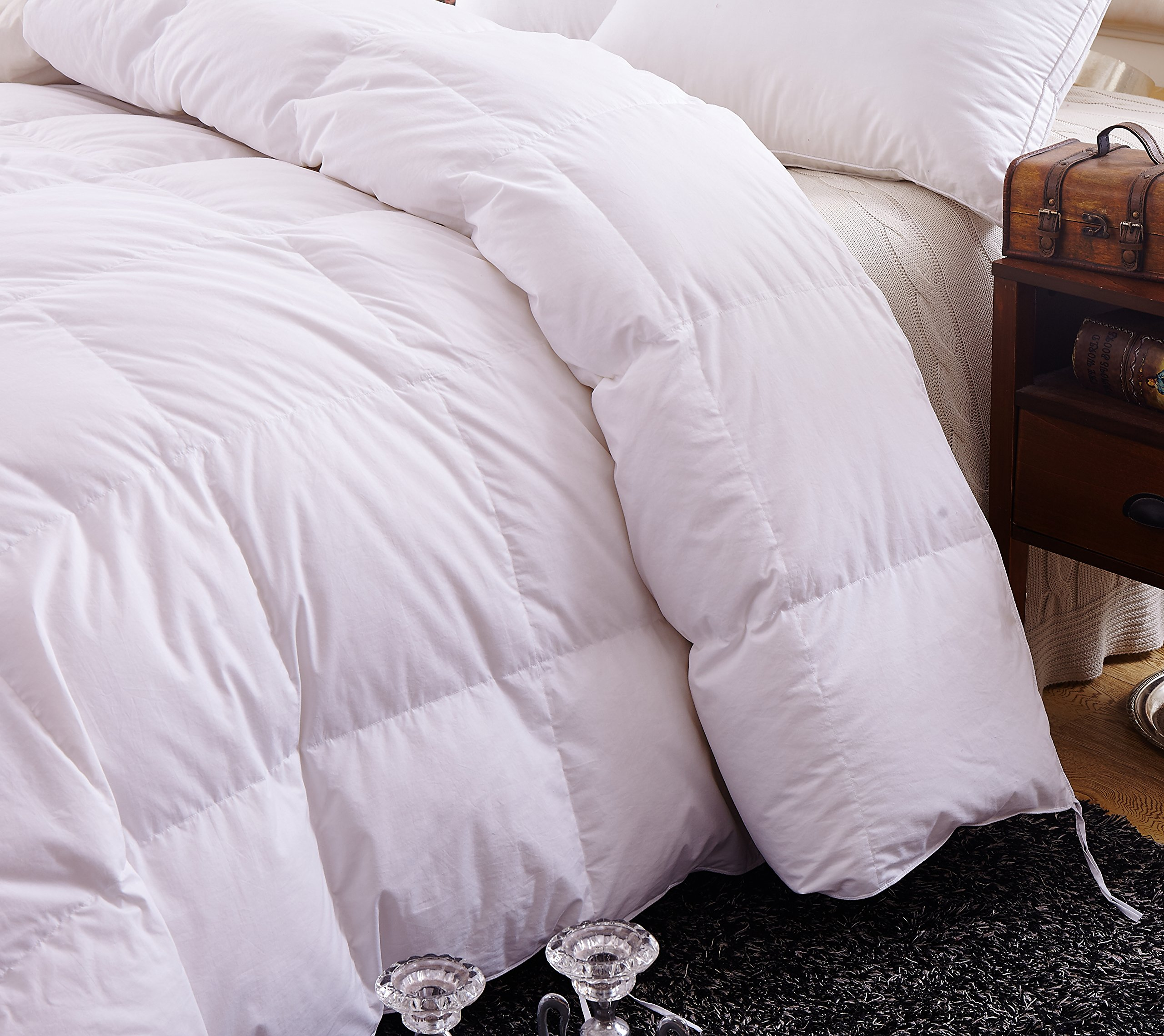 Topsleepy 50% Goose Down and 50% Feather Filling Queen (88-by-88-Inch) Bedding Comforter, White by Topsleepy (Image #2)