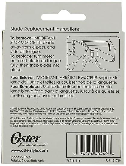 Oster 76918-086 - Cuchilla para cortapelos, 2,4 mm, tipo 76918-086 ...
