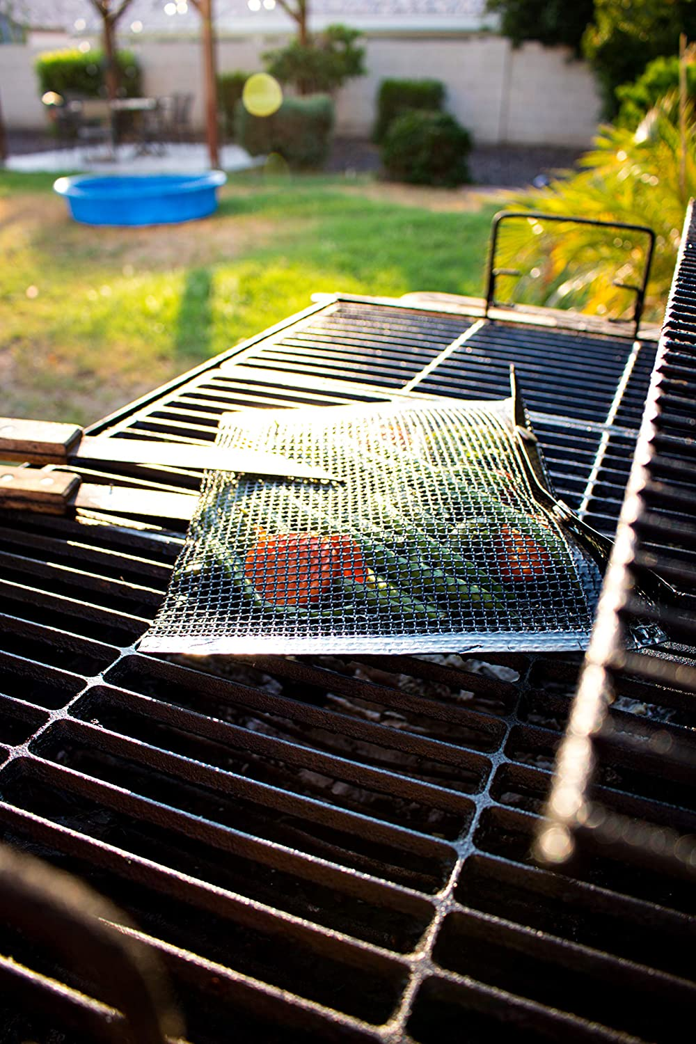 BBQ Grilling Mesh Pouch Bags - 2 Pack