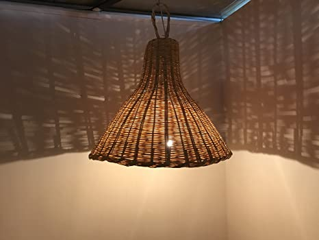 Lampadario vimini etnico orientale marocchino lampada applique