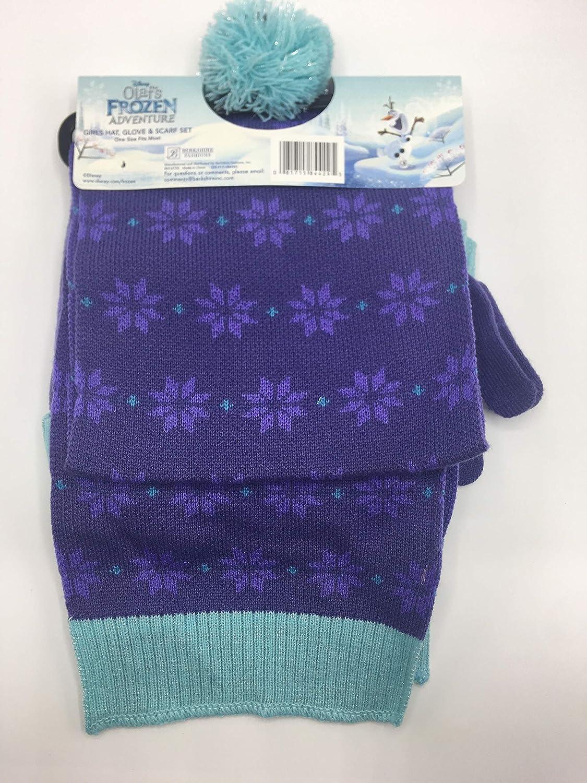 Olafs Frozen Adventure Girls hat Glove and Scarf Set