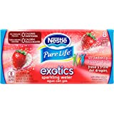 NESTLE PURE LIFE EXOTICS Sparkling Water, Strawberry Dragon Fruit, 12-ounce cans (Pack of 8)