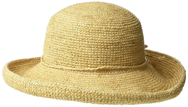 2b0e582ca44f5 Scala Women s Crocheted Packable Raffia Hat